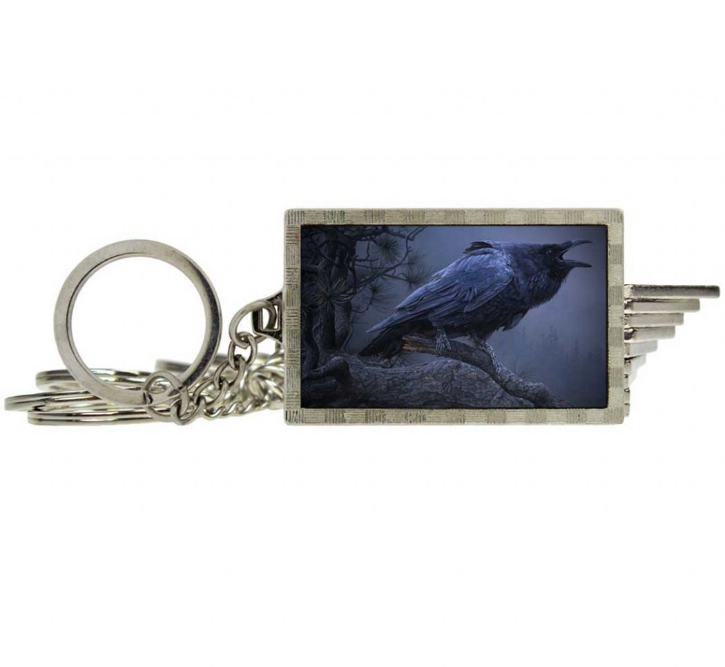 NEMESIS NOW Cry of the Raven 3D Keyring | Fantasy & Gothic Gifts